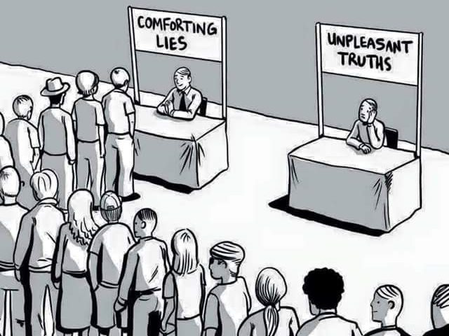 Image result for comforting lies vs real truth
